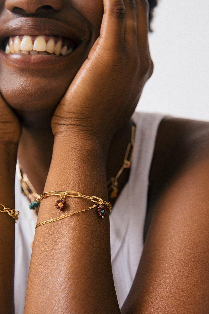 bracelet multi chaine or fait main
