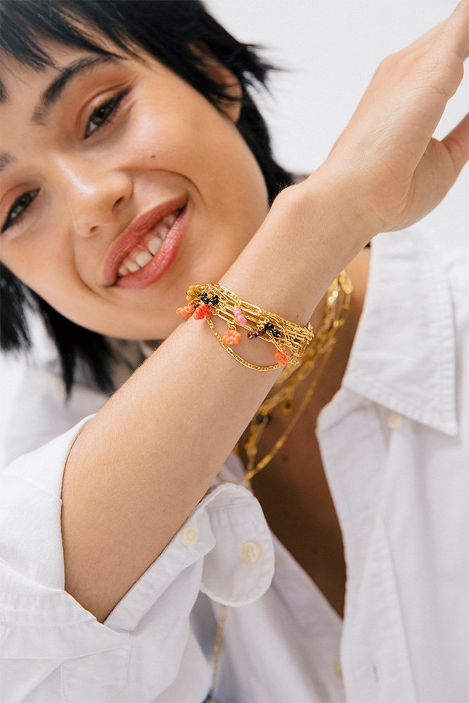 bracelets multi chaines personnaliser or