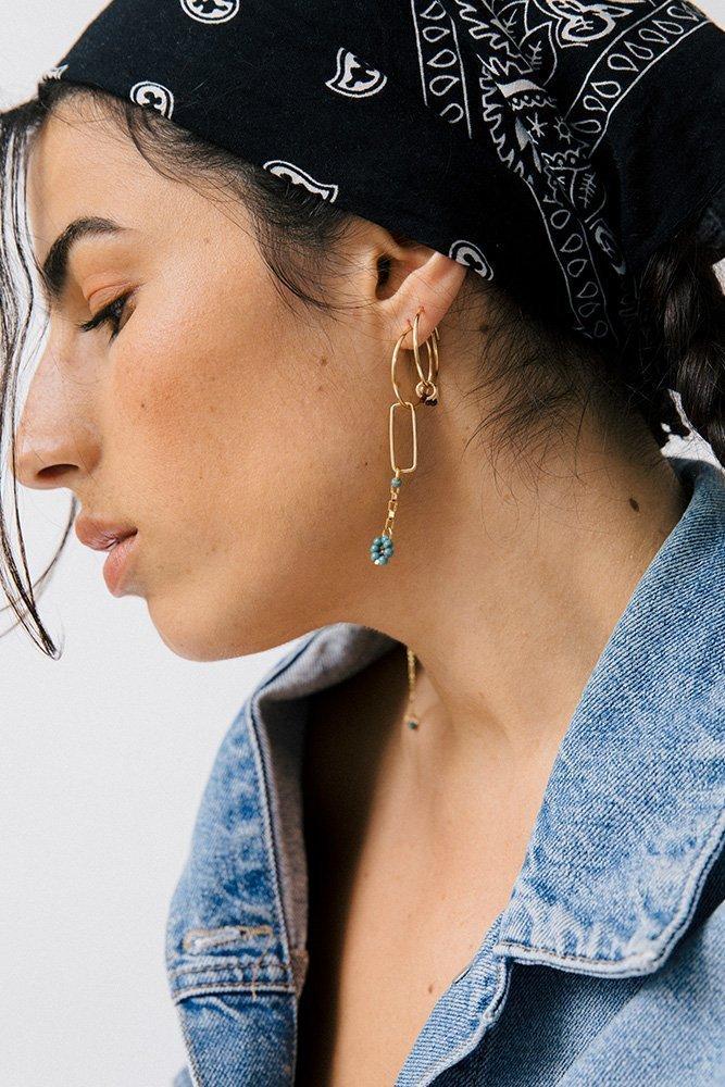 boucles d'oreilles jeanne personnaliser or fait main