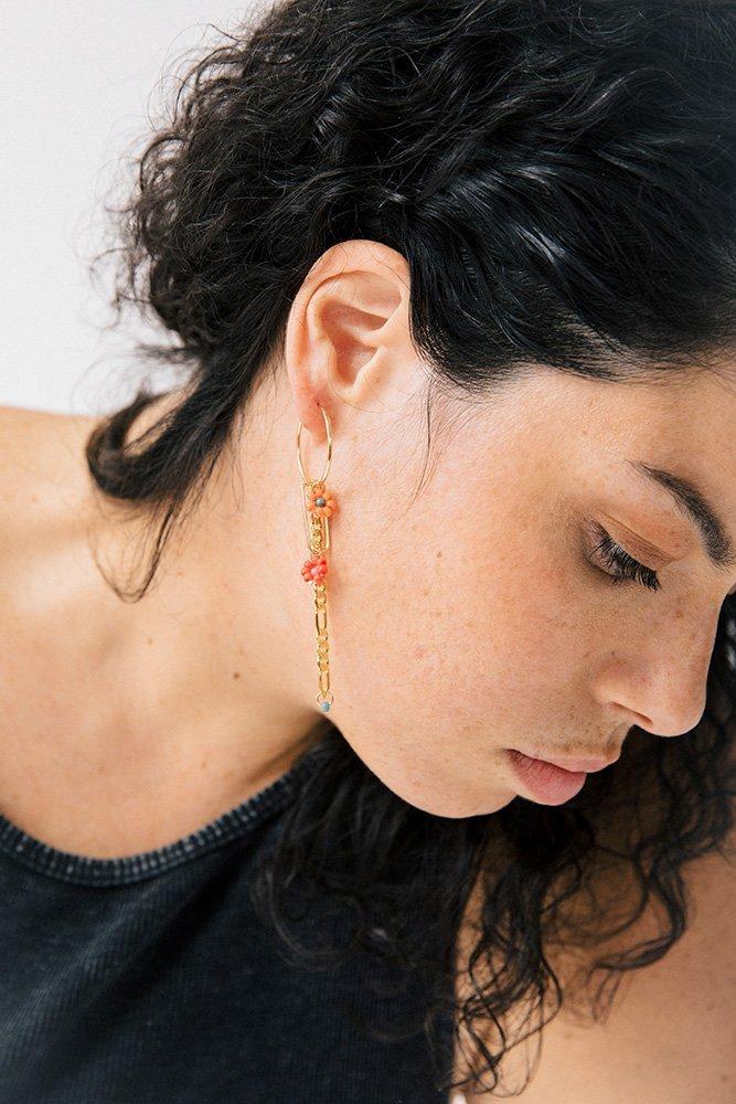 boucles oreilles odette personnaliser or