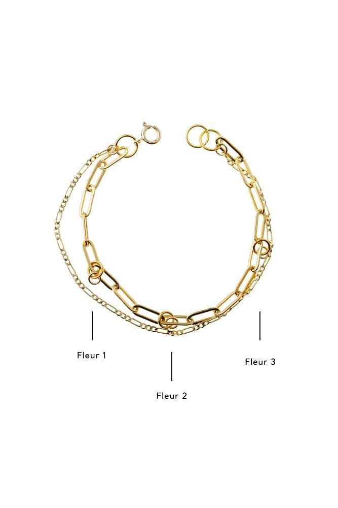 bracelet multi chaines personnaliser or