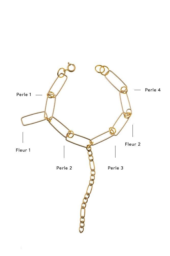 bracelet odette personnaliser or