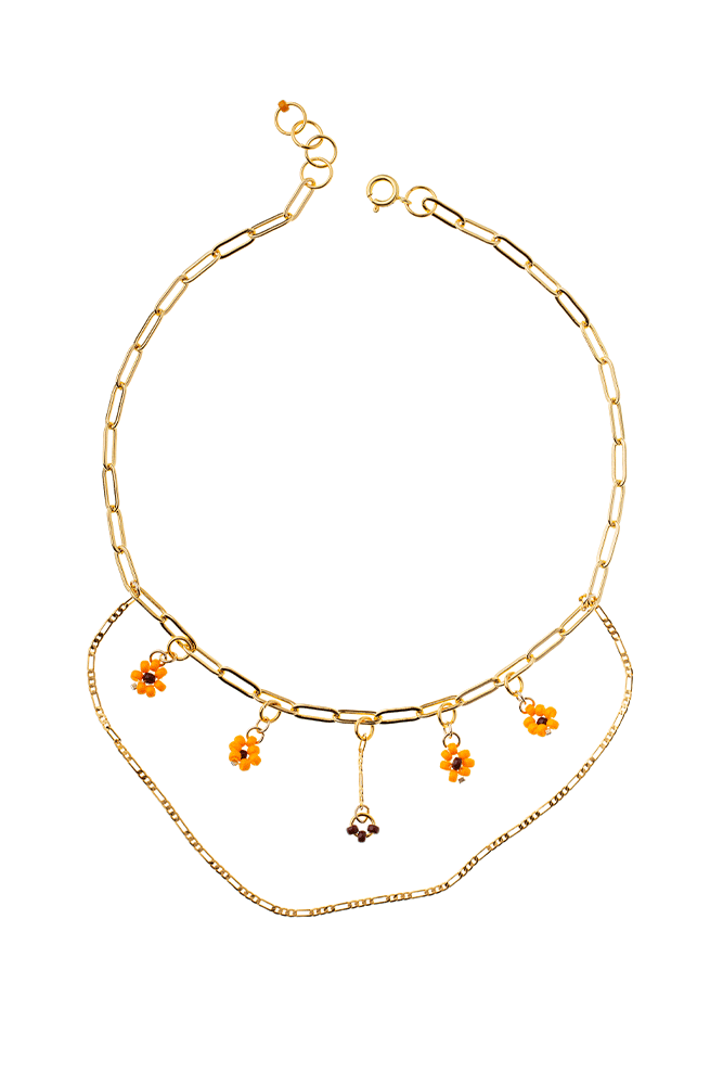 collier multi chaines personnaliser fait main or