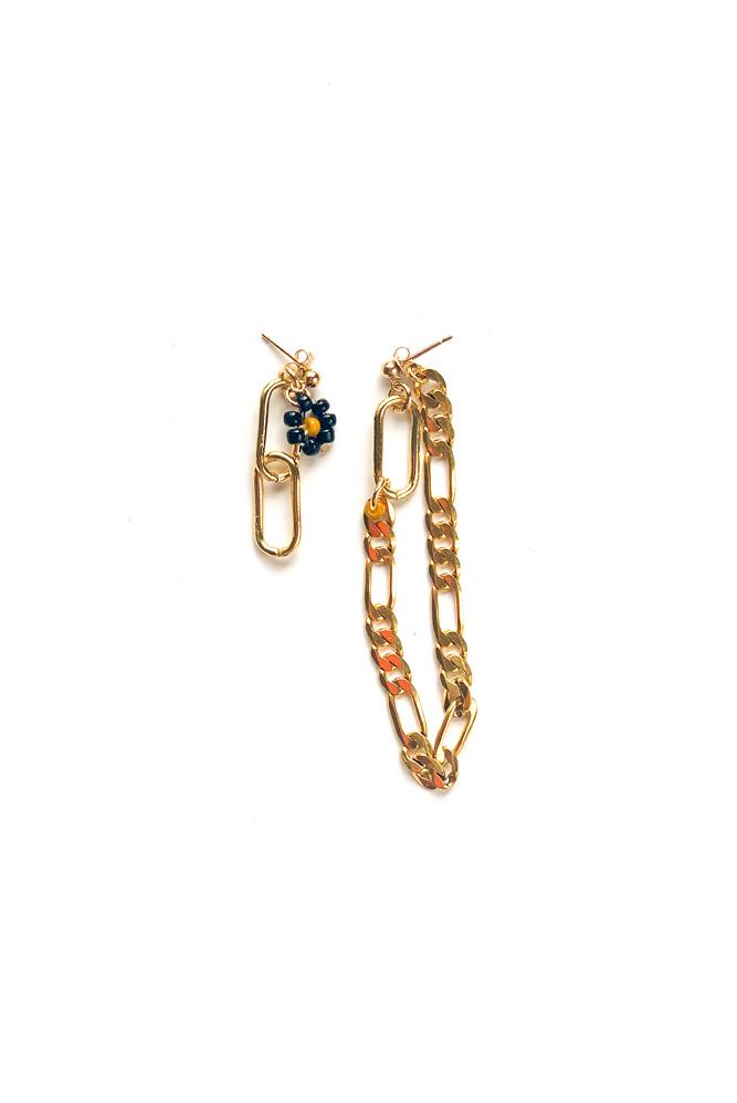 mini drop boucles d'oreilles or rempli gold filled claude paris