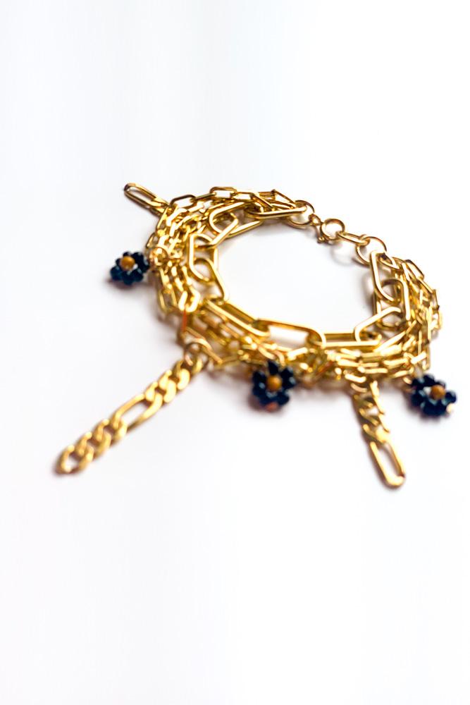 mini drop bracelet or rempli gold filled claude paris