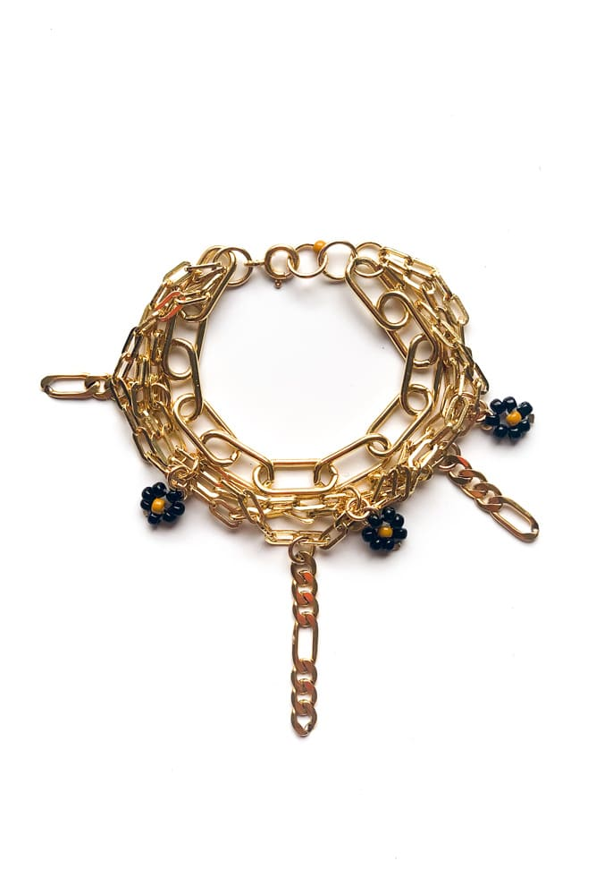 mini drop bracelet or rempli gold filled claude paris