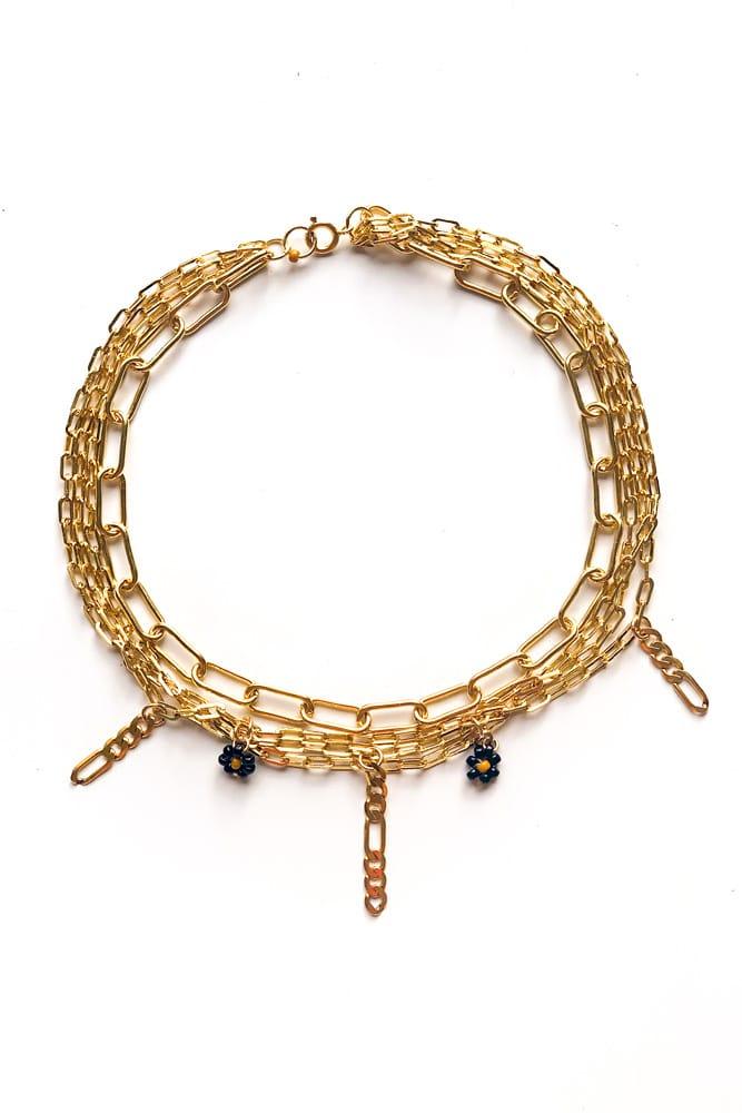 mini drop collier or rempli gold filled claude paris