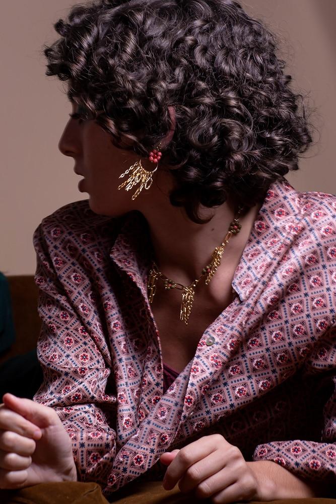 bijoux habibi boucle d oreille safta or remplis claude paris